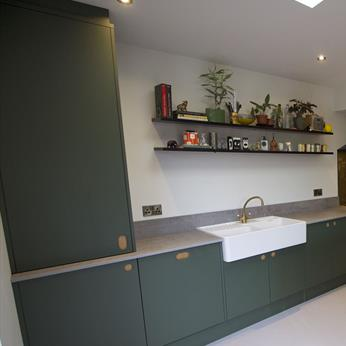 Dark Green Bespoke Handmade Kitchen by Fine Finish Kitchens & Bedrooms | Nottingham