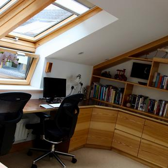Home Office/Study designed and fitted by Fine Finish Furniture in Nottingham.